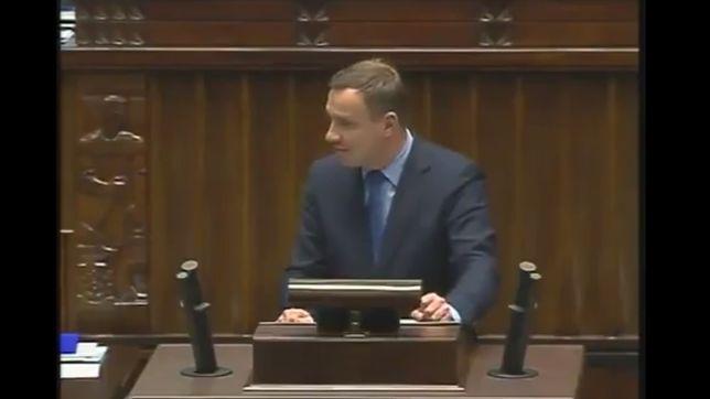 Andrzej Duda w Sejmie. 2013 r.