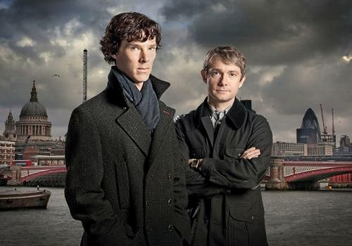 Benedict Cumberbatch i Martin Freeman fot. BBC Entertainment