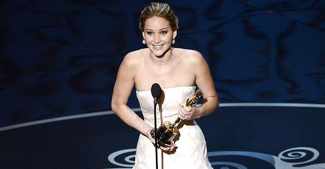 Jennifer Lawrence dziękuje za Oscara (2013)