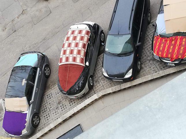 Gorzów Wielkopolski. Mieszkańcy w panice przed gradobiciem, szukają miejsc parkingowych