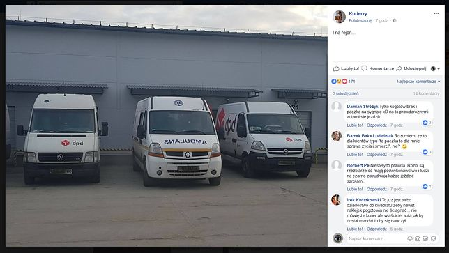 Kurier rozwoził paczki ambulansem. Ratownicy: To skandal