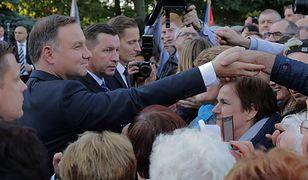 Prezydent Andrzej Duda w Jezioranach