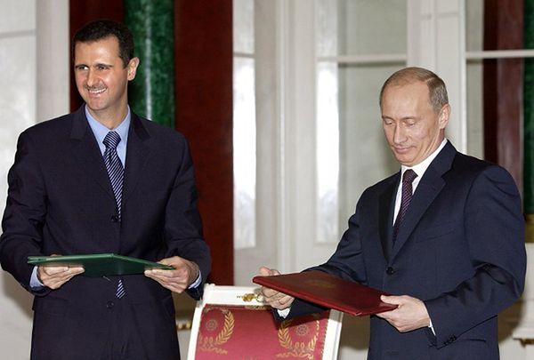 Baszar al-Asad i Władimir Putin, 2005 r.