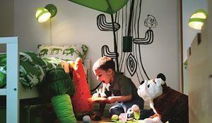 Pokój dziecięcy w dobrym oświetleniu