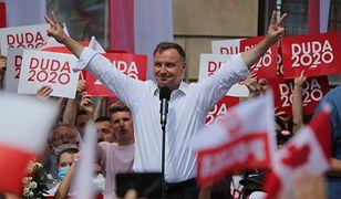 Wybory 2020. Andrzej Duda na wiecu wyborczym