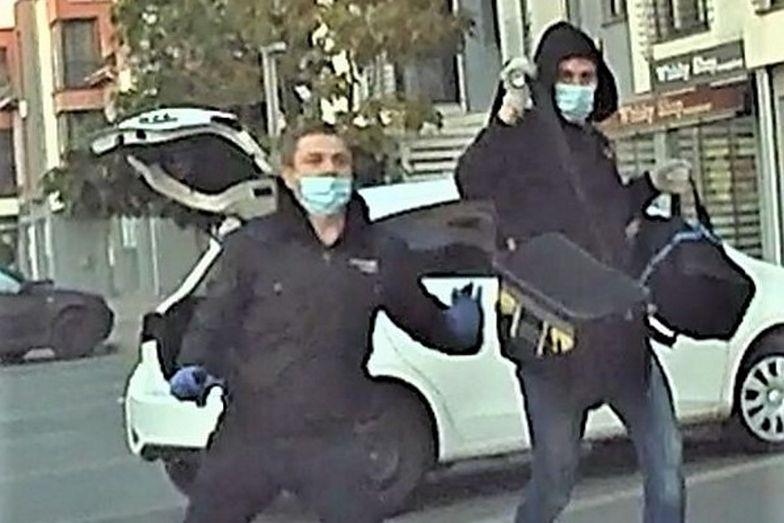 Rozbój rodem z filmu akcji. Policja z Kościana opublikowała moment ucieczki