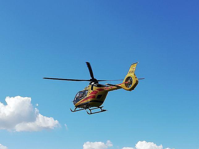 Do poparzonego Mikołaja natychmiast dotarły służby, konieczna jednak była pomoc Lotniczego Pogotowia Ratunkowego