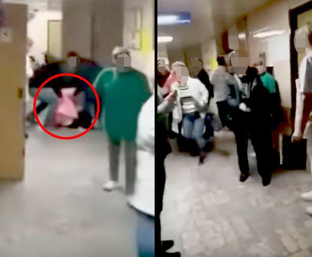Dąbrowa Górnicza. Szokujące wideo z SOR. Kobieta mdleje, ratownik odchodzi