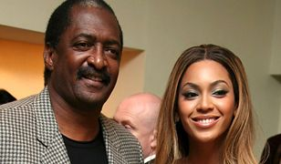 "Mathew Knowles i Beyonce, premiera filmu ""Dreamgirls"", Londyn, 2007 r."