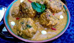 Kotleciki kofta w sosie curry. Mięciutkie i pełne smaku