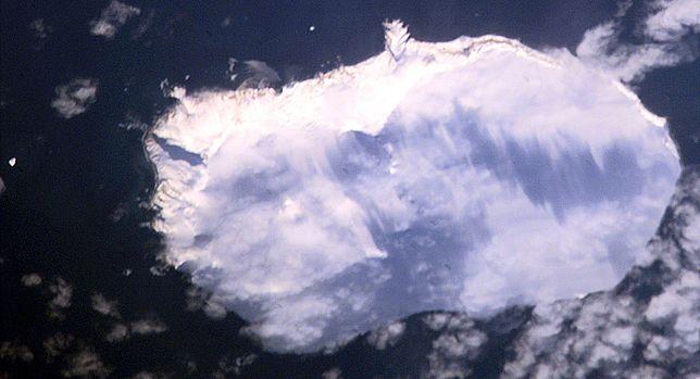 Wyspa Bouveta, zdjęcie satelitarne NASA