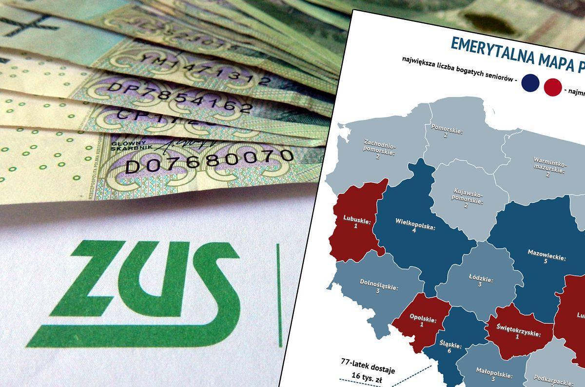 Najwięcej emerytalnych bogaczy jest na Śląsku. Oto mapa emerytów rekordzistów