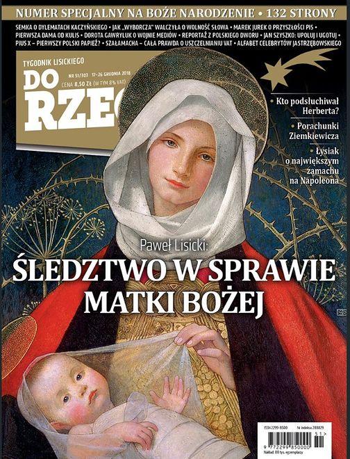 """Matka Boska na okładkach. Glapiński mówi o """"depisizacji"""""""