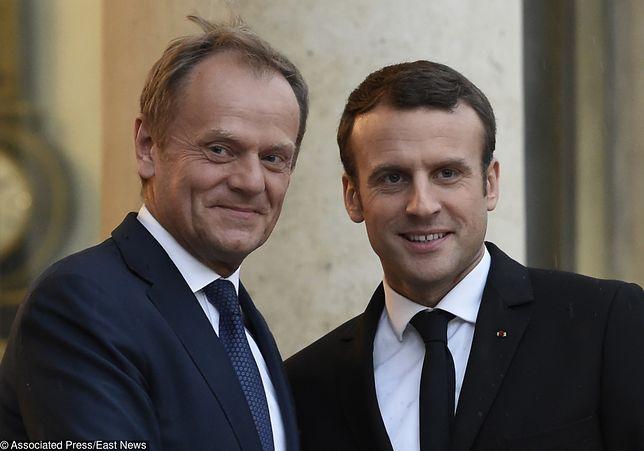 """Tusk spotkał się z Macronem. """"Europa potrzebuje pańskiej energii"""""""