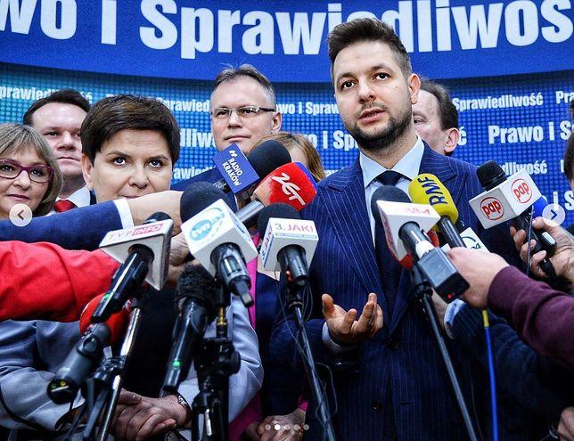 Kandydaci PiS w wyborach do PE. Na pierwszym planie Beata Szydło i Patryk Jaki