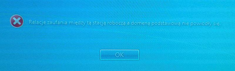 Problem w połączeniu z domeną - szybka naprawa - Zdjęcie 1