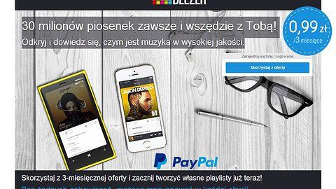 Deezer Premium za 1 zł na 3 miesiące? Tak jeżeli zapłacimy PayPalem