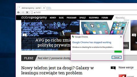 Niewielki adres powoduje awarię przeglądarki Google Chrome