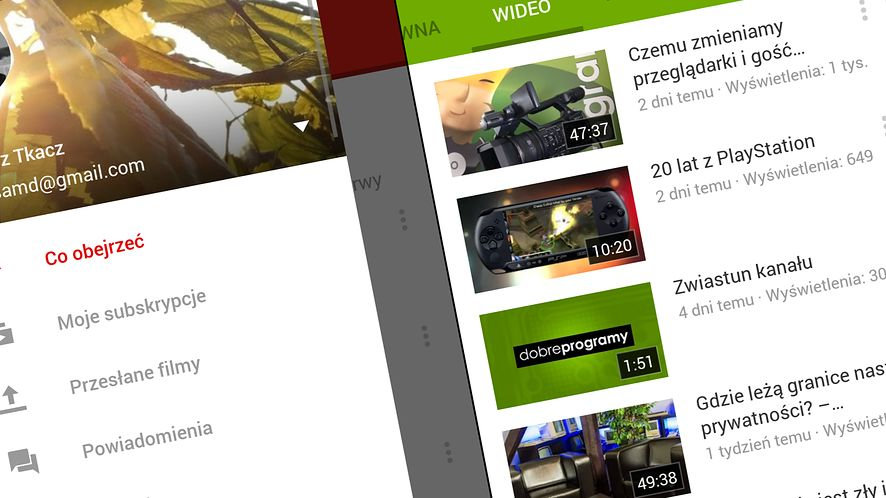 YouTube już dostępny w wersji z Material Design