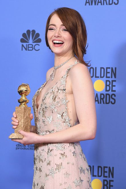 Emma Stone rozbroiła ripostą na niewyszukane pytanie prezentera podczas gali Złotych Globów