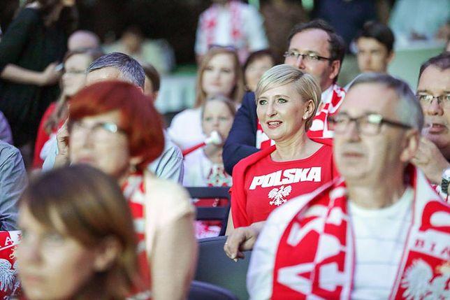 Agata Duda podczas meczu Polska-Portugalia