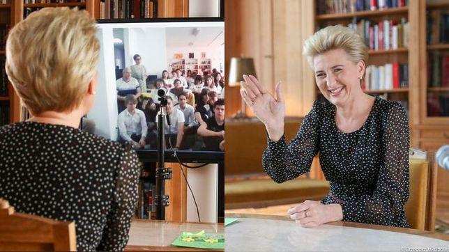"""Koronawirus w Polsce. Agata Duda nie stanie przed sądem za """"spotkanie"""" z młodzieżą"""