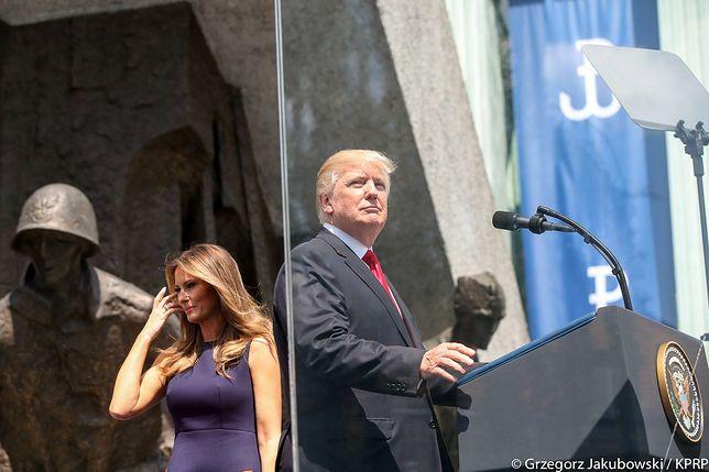 Donald Trump na pl. Krasińskich