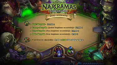 Blizzard ujawnił ceny dodatku Klątwa Naxxramas do Hearthstone