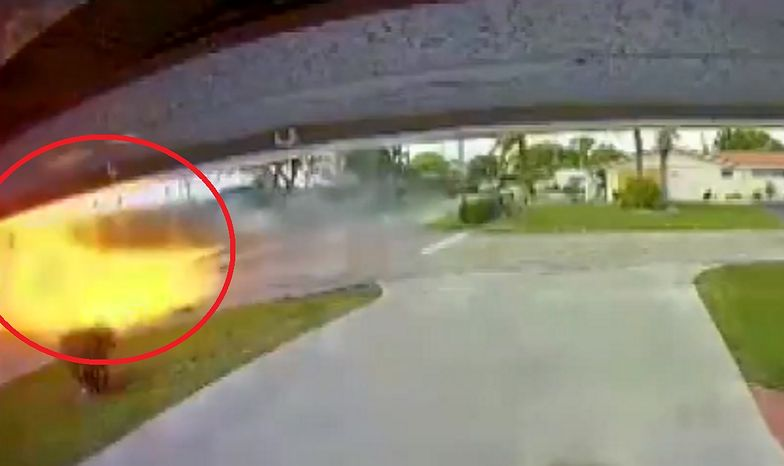 Samolot runął na ziemię i zamienił się w kulę ognia