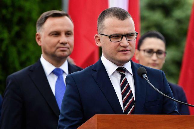 Wyniki wyborów okiem wiceministra Pawła Szefernakera. Na zdjęciu prezydent Andrzej Duda i wiceszef MSWiA.