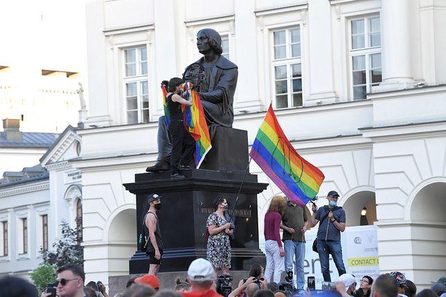 Protest po aresztowaniu Margot, aktywistki na rzecz praw społeczności LGBT.