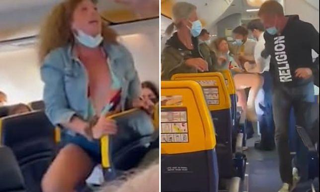 Kobieta rozpętała awanturę w Ryanairze