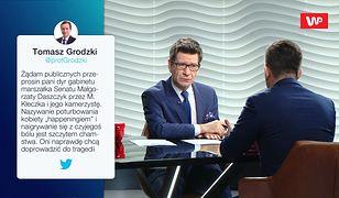 """""""To nie przystoi"""". Incydent TVP przed Senatem. Michał Dworczyk odpowiada Tomaszowi Grodzkiemu"""