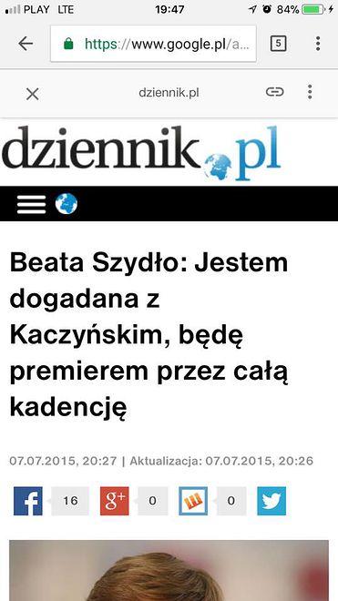 W 2015 roku Beata Szydło zapewniała, że nie zrezygnuje ze stanowiska