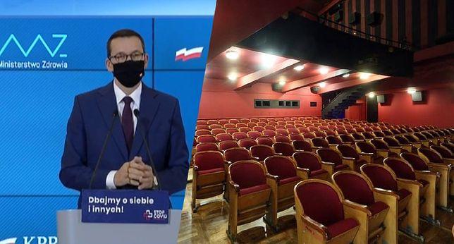 Premier Mateusz Morawiecki ogłosił 4 listopada nowe restrykcje, które obejmą m.in. kina