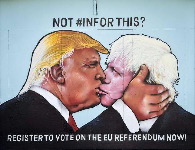 Donald Trump i Boris Johnson są na siebie politycznie skazani
