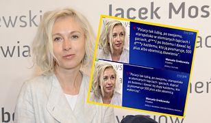 """Manuela Gretkowska jest chętnie cytowana przez """"Wiadomości"""""""