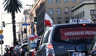 Protest taksówkarzy może spowodować utrudnienia w ruchu