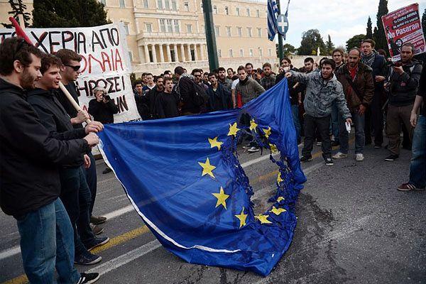 Antyunijny protest greckich studentów, 28 marca 2013 roku