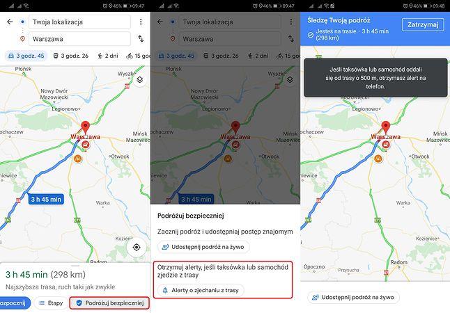 Mapy Google potrafią już ostrzegać o złych zamiarach taksówkarzy.
