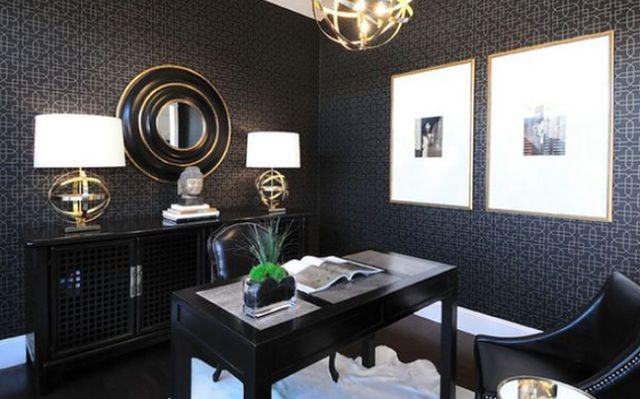 Czarny kolor ścian - inspiracje