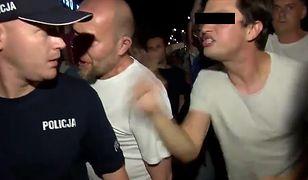 """Mężczyzna, który krzyczał """"ZOMO"""" do policji, dostał zarzuty. Ustalono, kim jest"""
