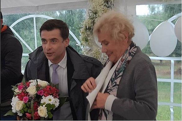 Teresa Lipowska na pożegnaniu Kacpra Kuszewskiego