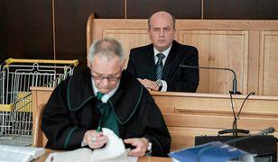 Tomasz G. w poznańskim sądzie w lipcu 2017 r. podczas procesu o oszustwo