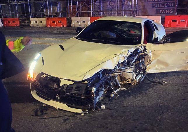 Rozbite Ferrari 812 (fot. twitter.com/MikeWiLLMadeIt)