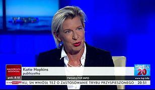 """Katie Hopkins występująca jako komentatorka w programie """"Minęła 20"""""""