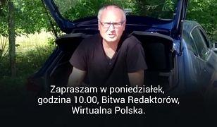 """""""Bitwa Redaktorów"""". Zaprasza Paweł Lisicki z bagażnika samochodu"""