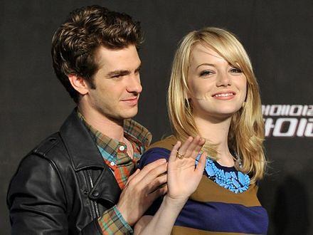 Emma Stone inspiruje Andrew Garfielda