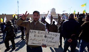 Irak. Protest przed ambasadą USA w Bagdadzie