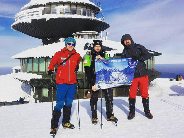 Pierwszego dnia wyprawy uczestnicy weszli m.in. na Śnieżkę